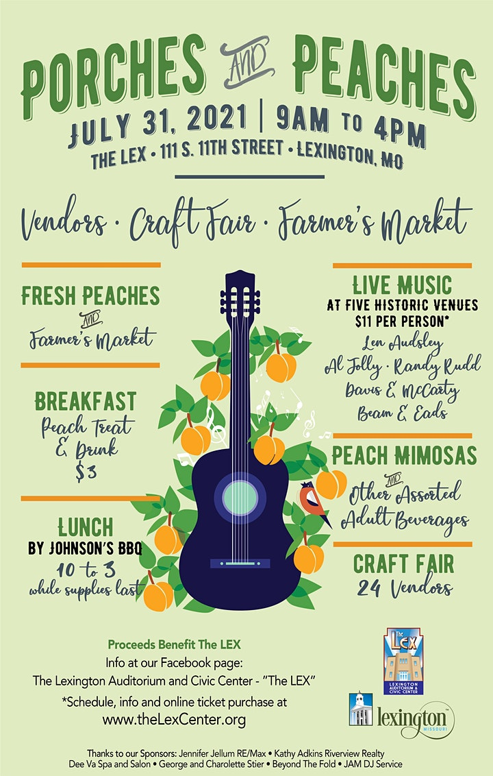 2021 Porches and Peaches (Marketplace at The LEX, Performances around town) image