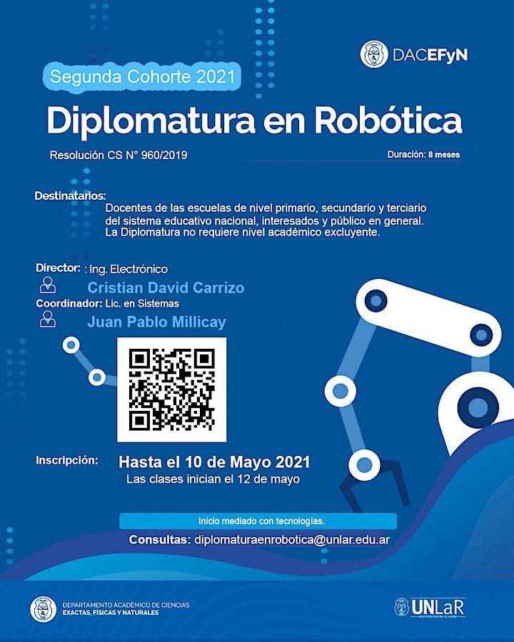 Imagen de Diplomatura en Robótica UNLaR Segunda Cohorte 2021