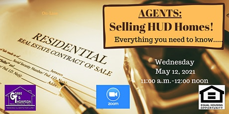 How to Sell a HUD Home for Real Estate Professionals!  Zoom Webinar tickets