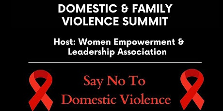 Domestic and Family Violence Summit 2021 - Say No to Domestic Violence tickets