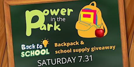 Drive-Thru Giveaway: Free Backpacks, School Supplies tickets
