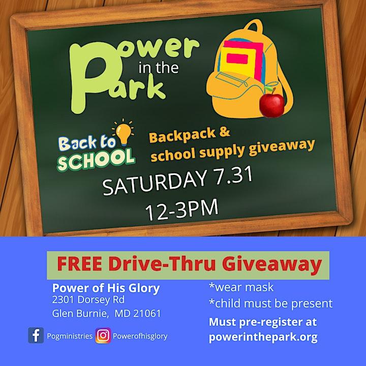 Drive-Thru Giveaway: Free Backpacks, School Supplies image