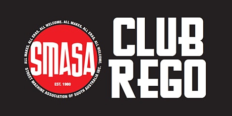 SMASA Club Rego Weekend, Saturday 22nd May 2021, 9:00am to 9:30am tickets