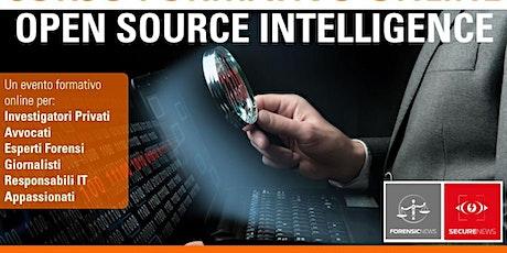 Corso formativo online OSINT Open Source Intelligence biglietti