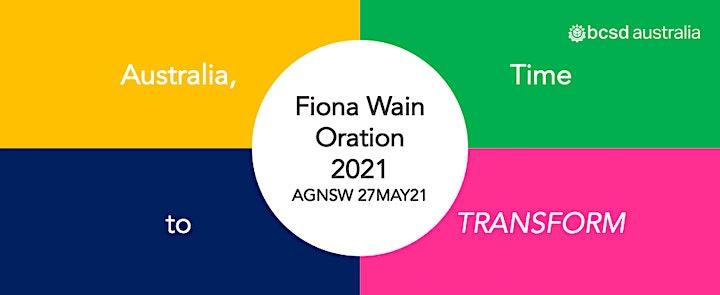 30BCSD Australia I Fiona Wain Oration 2021 image