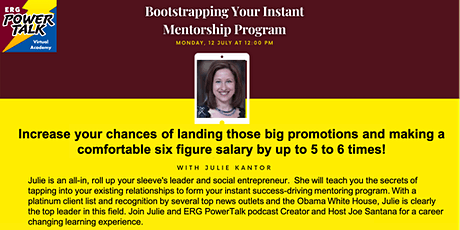 Bootstrapping Your Instant Mentorship Program tickets