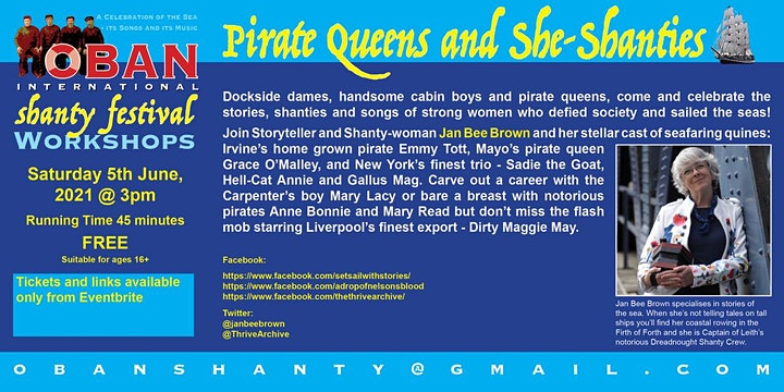 Pirate Queens and She-Shanties with Jan Bee Brown image
