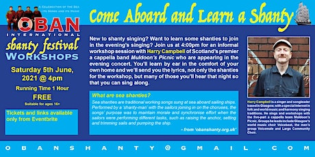 Come Aboard and Learn a Shanty with Harry Campbell tickets