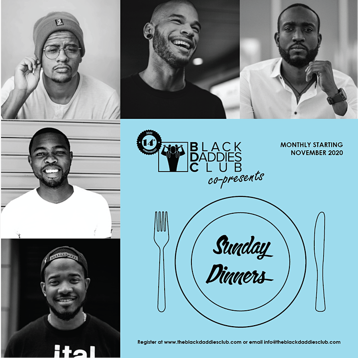 Sunday Dinners  Monlthly online Gathering for Black Men: May 2021 edition image