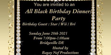 All Black Birthday Dinner/Party tickets