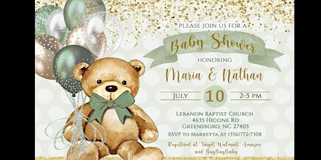 Maria & Nathan's Baby shower tickets