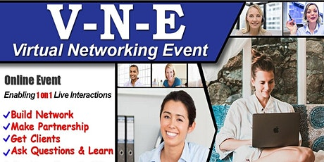 Exclusive Virtual Business & Startup Networking Do 1on1 chat with Attendees tickets