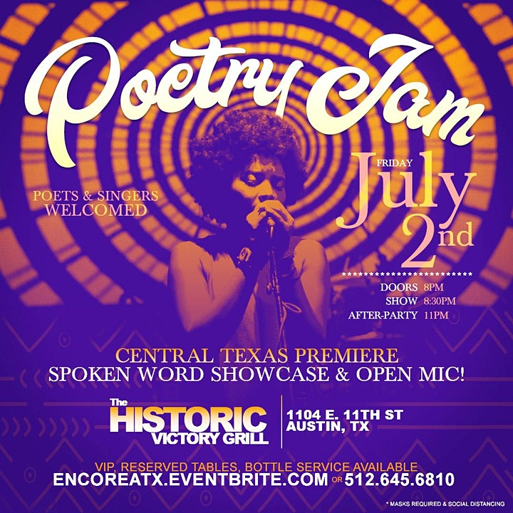 Poetry Jam | Open Mic and After-Party 7.2 image