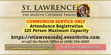 COMMUNION SERVICE: WEDNESDAY, May 12, 2021 @ 8:30 AM Registration tickets