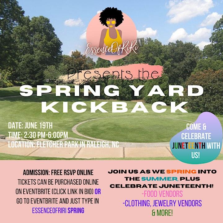 Spring Yard KickBack Into Summer! image