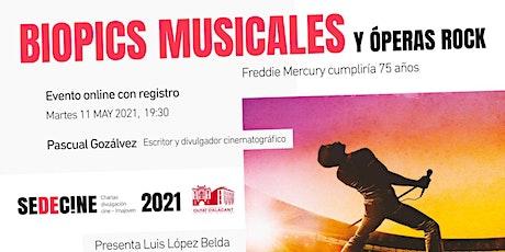 """charla """"Freddie Mercury cumpliría 75 años: Biopics musicales y Óperas Rock"""" ingressos"""