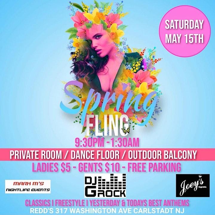 Spring Fling Party! DJ & Outdoor Patio! Ladies Only $5 - Men $10 image