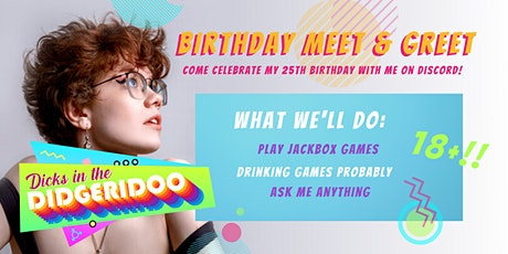 DITD's Birthday Meet & Greet (18+) tickets