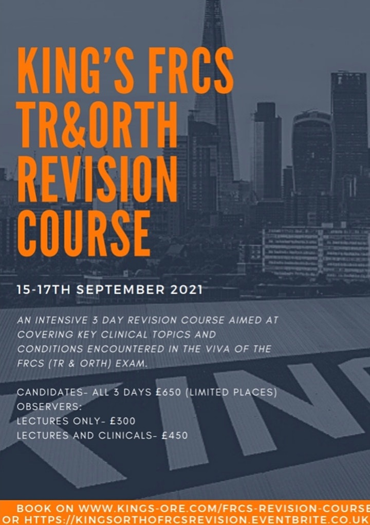 King's FRCS (Orth) Intense Revision Course image