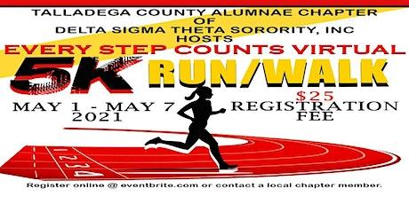 Talladega County Alumnae Chapter - Every Step Counts Virtual 5K Run/Walk tickets
