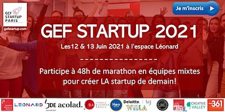 GEF Startup 2021 billets