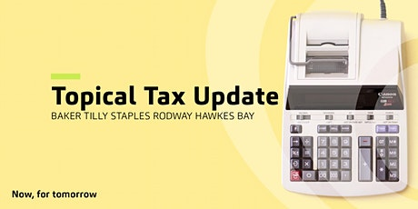 Topical Tax Update  |  Hawkes Bay tickets
