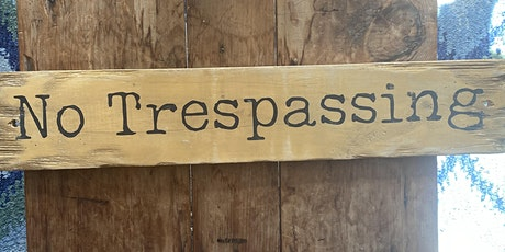 Rustic Distressed Sign tickets