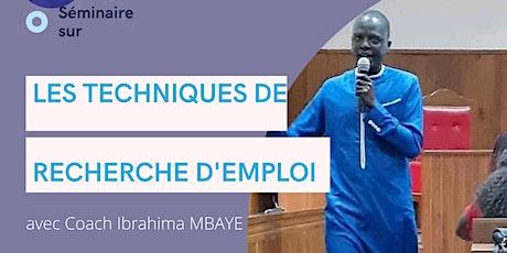 SEMINAIRE SUR LES TECHNIQUES DE RECHERCHES D'EMPLOI billets