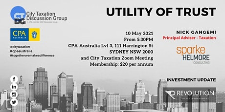 CTDG May 2021 1st Event - Utility of Trusts tickets