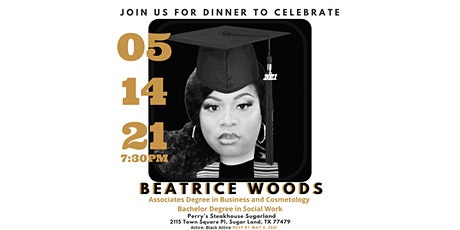 Bea's Graduate Dinner tickets