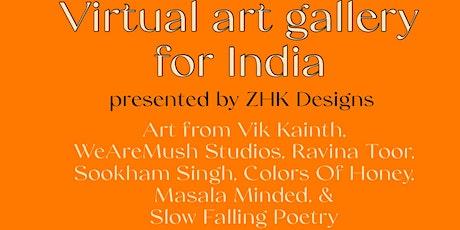 Virtual Art Gallery for India biglietti