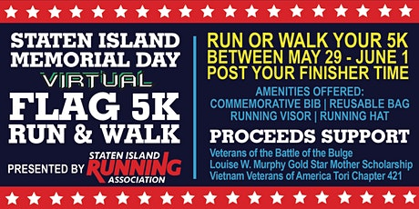 Memorial Day Virtual Flag 5K Run & Walk tickets