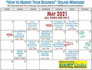 Your May Free Marketing Interactive Webinars tickets