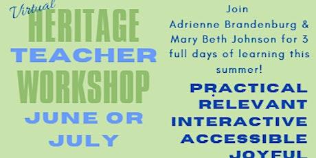 Second date added! Heritage Teacher Workshop 2021 tickets