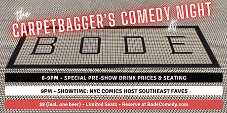 Carpetbagger's Comedy Night at Bode Chattanooga tickets