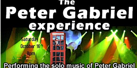 The Peter Gabriel Experience tickets