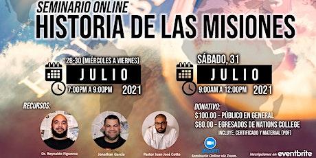 SEMINARIO ONLINE - HISTORIA DE LAS MISIONES entradas