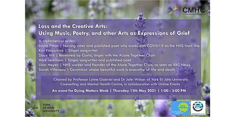 Loss & the Creative Arts: Music, Poetry & other Arts as Expression of Grief tickets