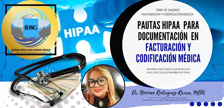 Webinar: Pautas HIPAA para Documentación en Facturación/Codificación Médica image