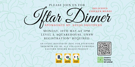 Iftar Dinner at ISOC by Saudi Brothers- 10th May tickets