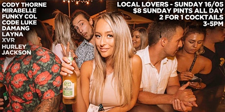 Local Lovers at Sunday Sessions $8 Sunday Pints & 2 for 1 Cocktails 3-5PM tickets