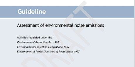Guideline: Assessment of environmental noise emissions - Session 2 tickets