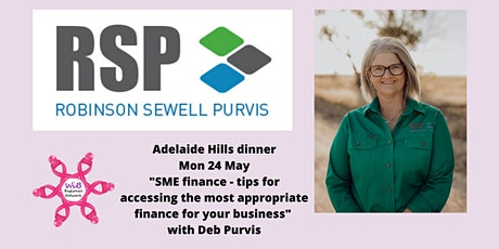 Adelaide Hills Dinner - Women in Business Regional Network -  Mon 24/5/2021 tickets