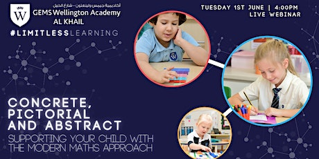 Concrete, Pictorial and Abstract - Supporting Your Child With  Modern Maths Tickets