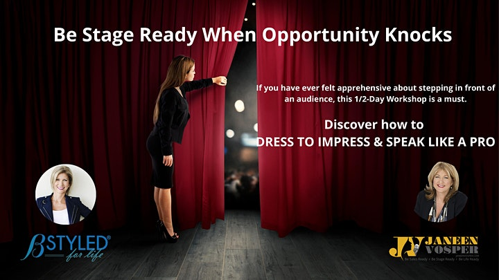 Be Stage Ready When Opportunity Knocks - About Style & Speaking Confidence image