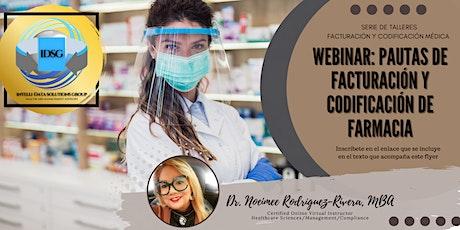 Webinar: Facturación y Codificación de Farmacia tickets