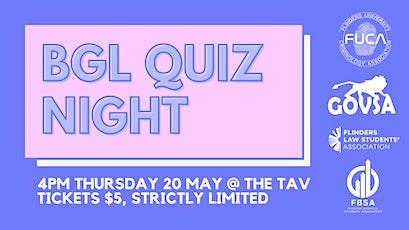 BGL Quiz Night tickets