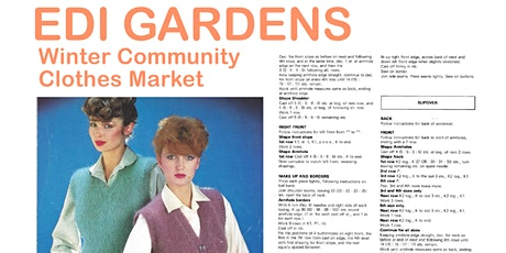 EDI GARDENS WINTER COMMUNITY CLOTHES MARKET tickets