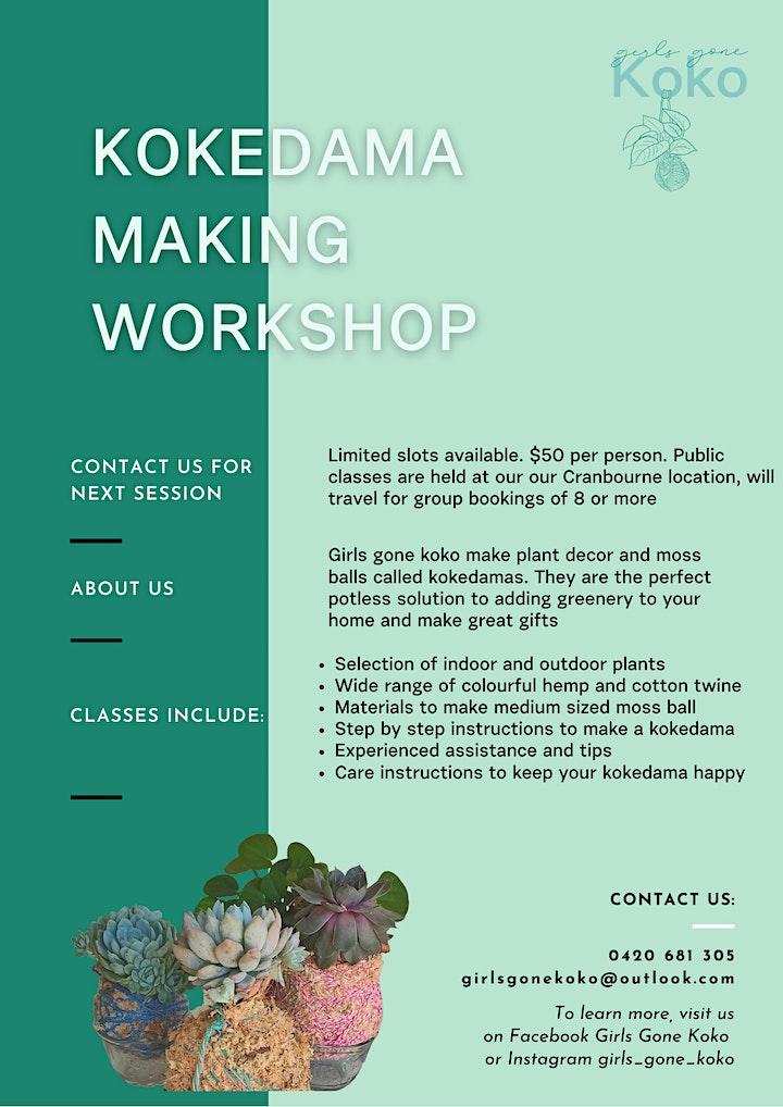 Kokedama Making Workshop image