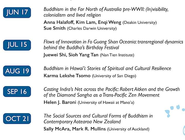 Buddhism in the Sea of Islands Webinar Series - August webinar image